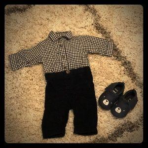 Adorable black and white newborn set!